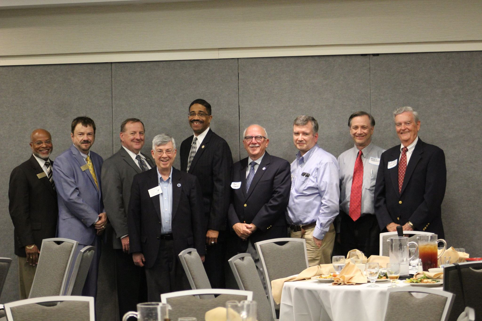 Former Presidents Paul Anderson, Steven Hill, Rodney Maddox, Mike Schaul, Justice Michael Morgan, President Max Adams, Former Presidents Henry Jarrett, Ronald Condrey, and David Bland