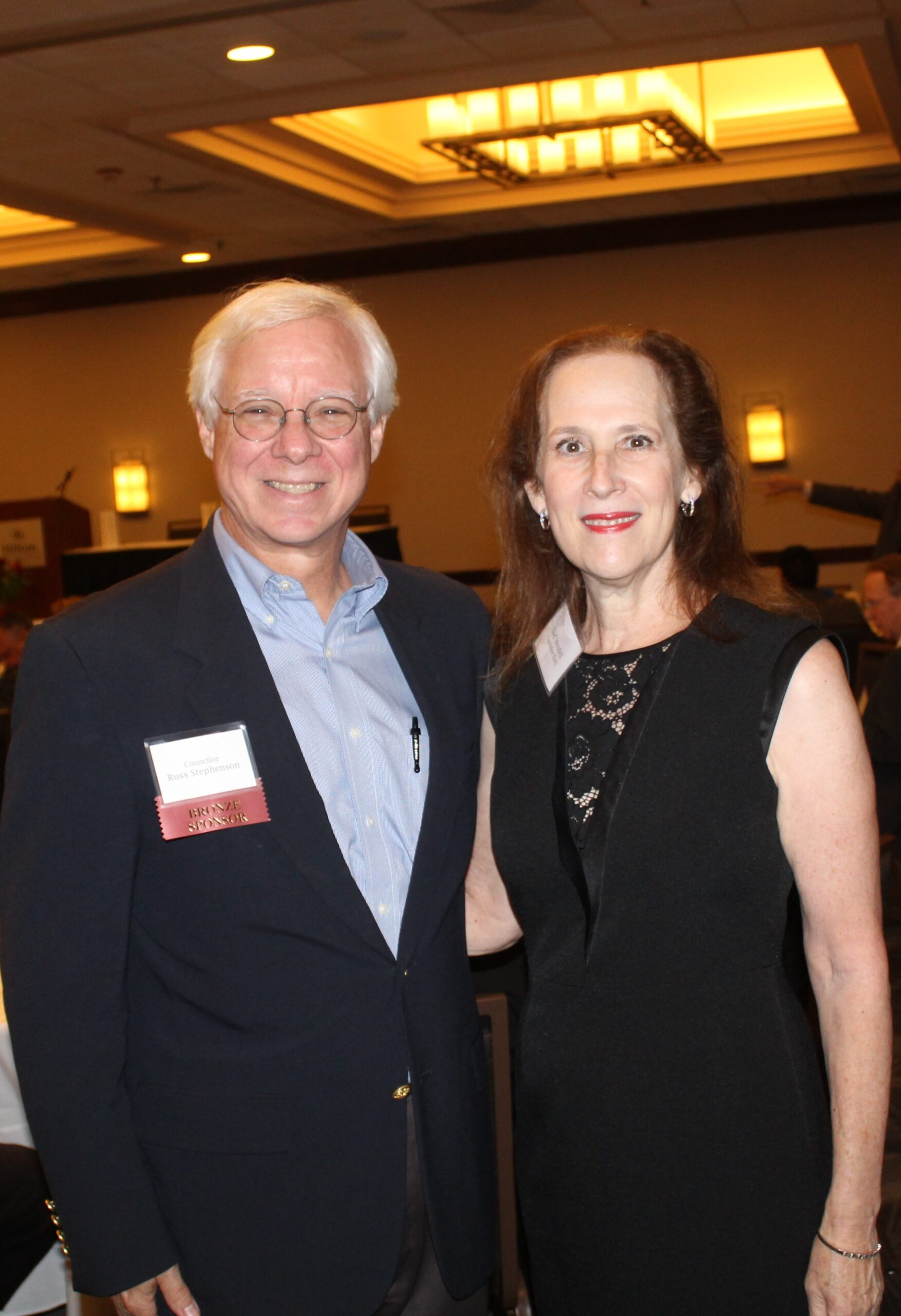 Raleigh City Councilor Russ Stephenson with Councilor-Elect Stef Mendell