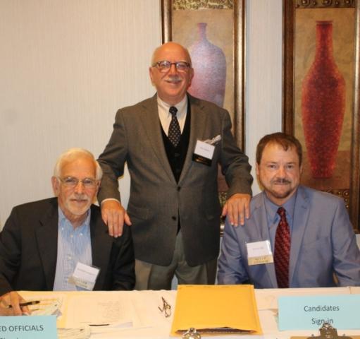 Wake Democratic Men's Club Treasurer Richard Loeppert, President Max Adams, and Secretary Steven Hill