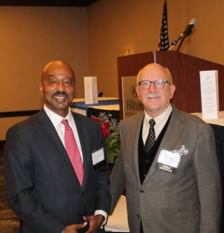 Charles Francis, Democratic Candidate for Mayor of Raleigh, with Max Adams