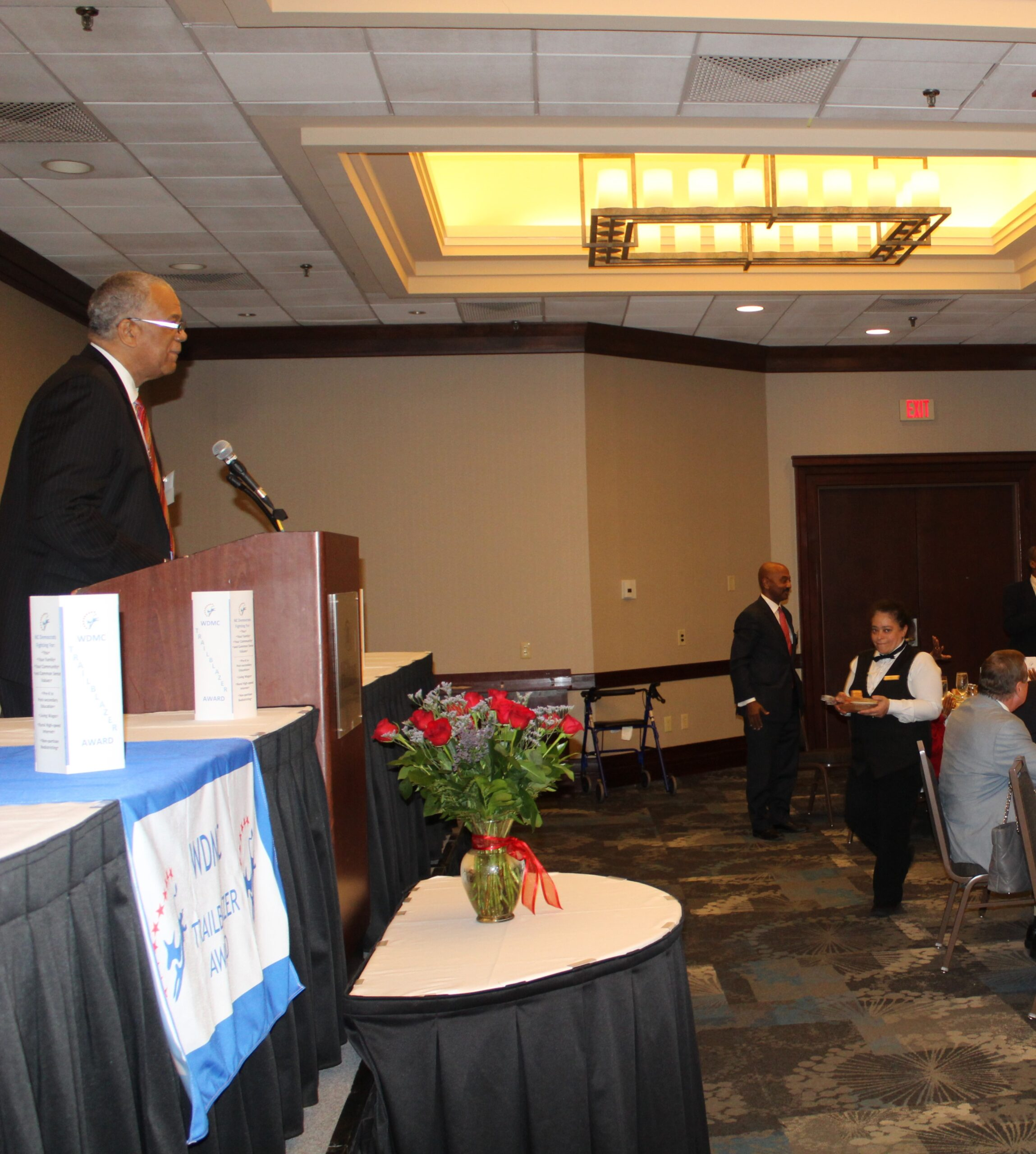 First Vice-President Robert Wilson recognizing elected officials and candidates