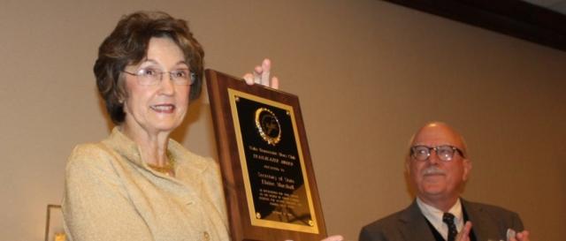 Elaine with the first Trailblazer Award